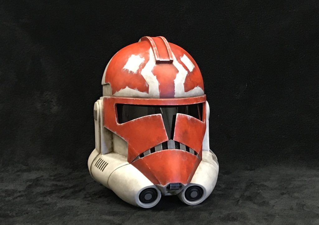 Completed helmet painted by Jeff Parks.