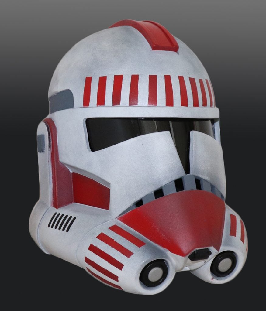Completed helmet painted by Bianca S.